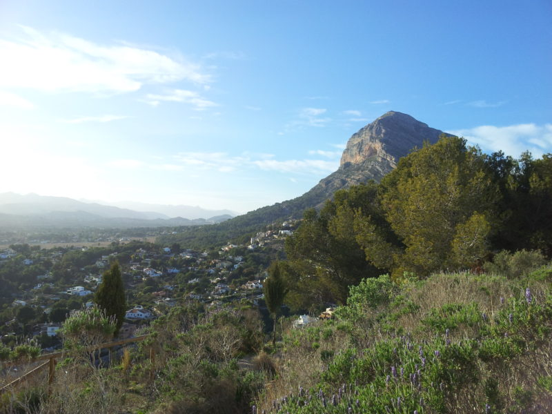 Montgo  mountain Javea Spain view blue sky