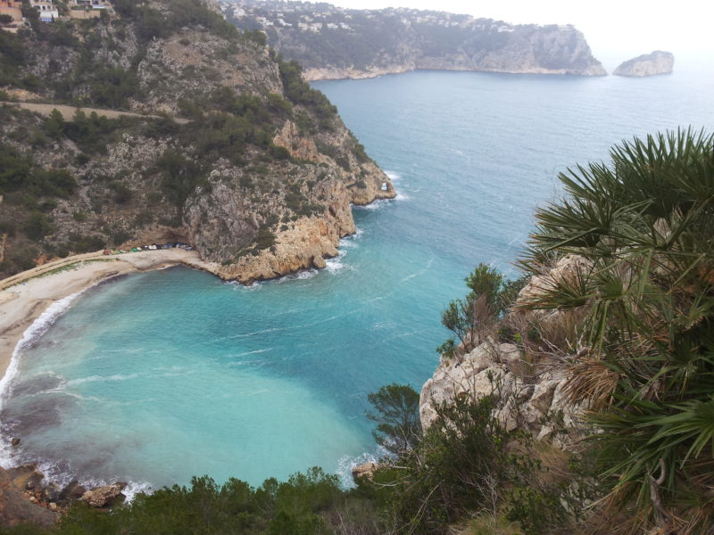 Javea Granadella beach horseshoe bay blue beautiful