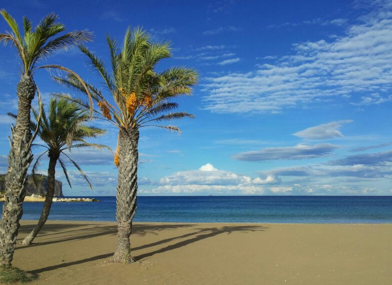 Arenal beach Javea Blue Flag sand sea